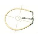 Swarovski pulsera cuero crema por perlas Becharmed
