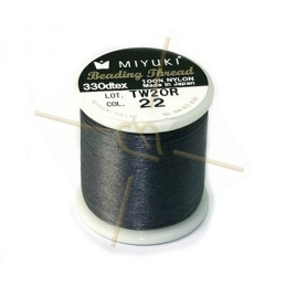 Miyuki Beading Thread Dark Grey