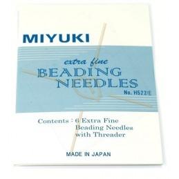 Miyuki 6 Beading Neadles extra fine with Threader