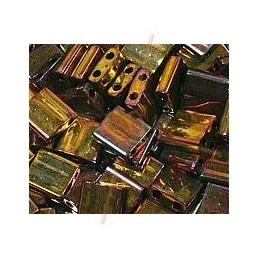 TILA BEAD MET GOLD IRIS