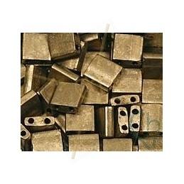 Tilla bead matte metal gold