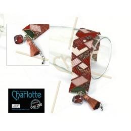 Grilles detail en kleurenlijst armband Faby