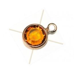 Swarovski strass SS29 sertie 1 anneau rose gold Topaz