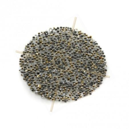 Pastille 24mm rond Swarovski Crystal Fabric-it Dorado