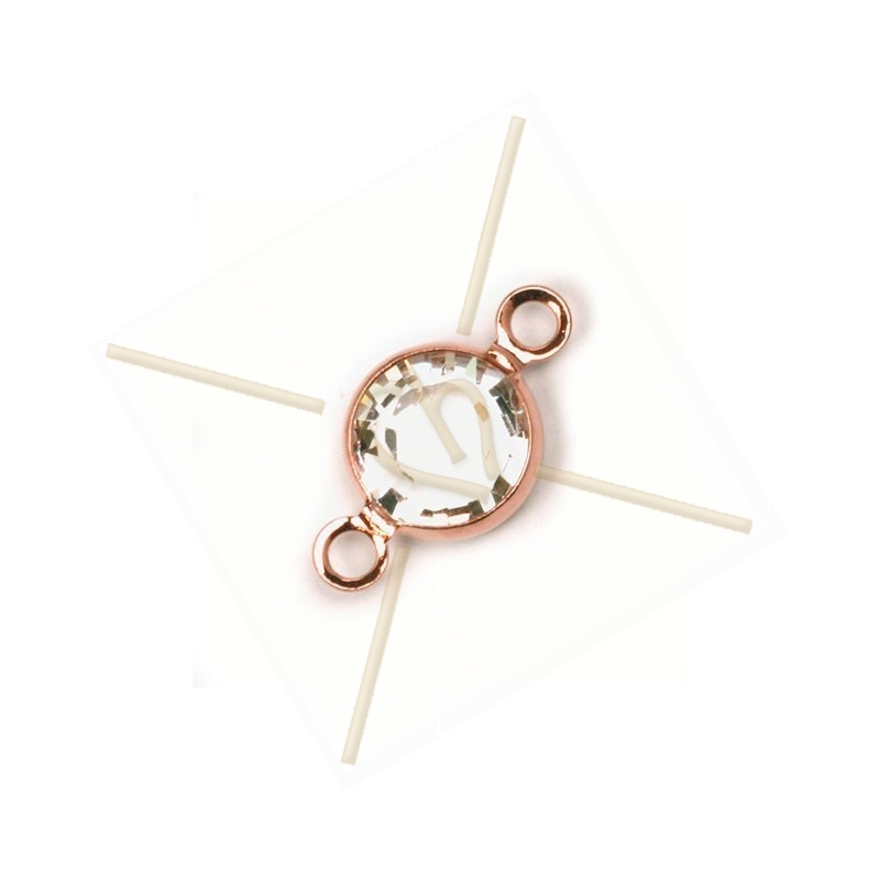 Swarovski strass 14mm  SS29 sertie 2 ring Rose Gold