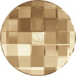 Swarovski chessboard rond 20mm GOLDEN SHADOW GSHA