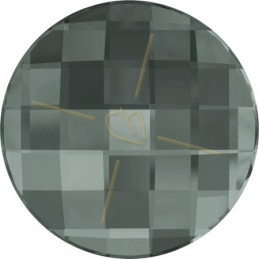 Swarovski chessboard rond 20mm BLACK DIAMOND