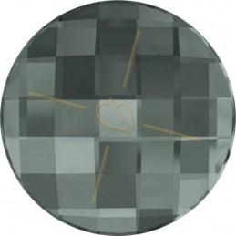 Swarovski chessboard rond 20mm BLACK DIAMOND