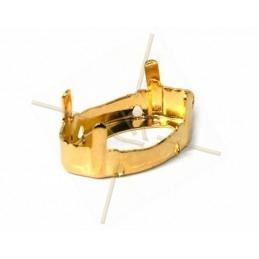 sertie 4-trou pour Swarovski 4775 18*10mm rhodium