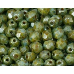 Opaque Lazure Blue Green facetkralen 4mm