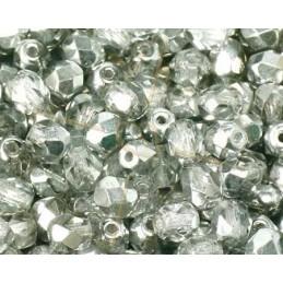 Crystal Half Labrador Fire Polished beads 4mm