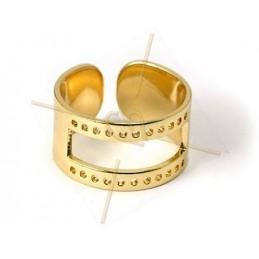 ring regelbaar voor Miyuki tissage zilver