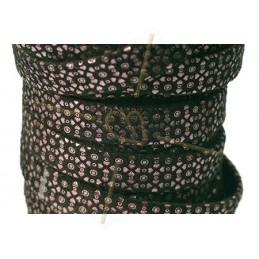 leather flat 10mm leopard metal Black Rose Gold