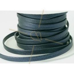 cuir metallic plat 5mm Bleu Marine