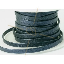 leather metallic flat 5mm Navyblue