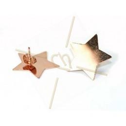 "oorbellen roze gold voor Swarovski Crystal Rocks ""ster"""