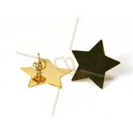 """Boucle d'oreilles perceuses couleur or  pour Swarovski Crystal Rocks """"étoile"""""""