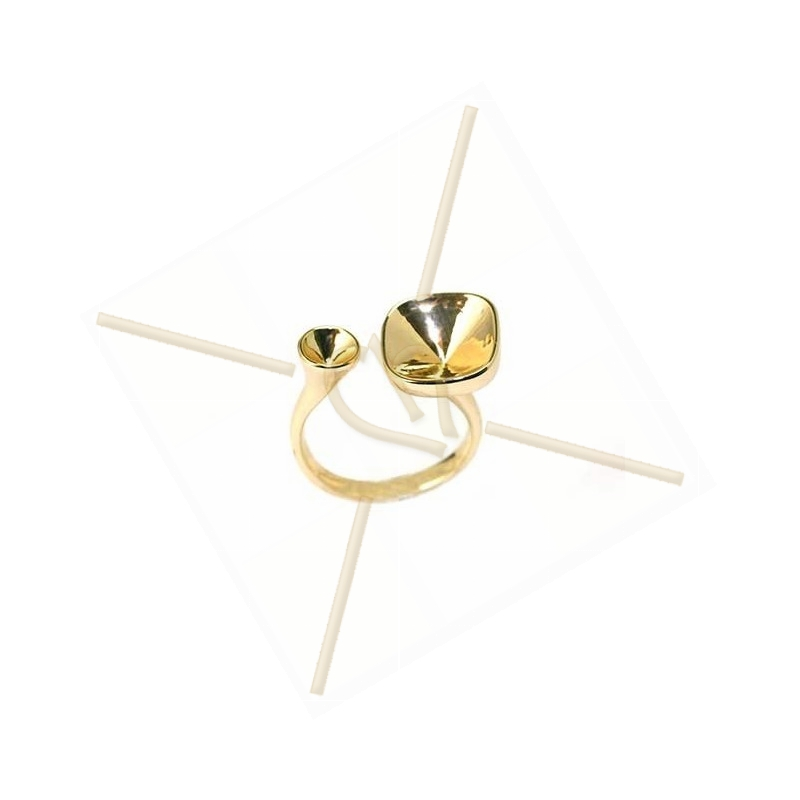 """Ring gold color """"one Size"""" for Swarovski 10*10 12*12 and SS19"""