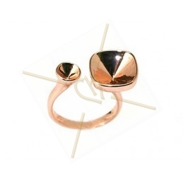 "Ring rose goudkleur ""one size"" voor Swarovski strass 10*10 12*12 en SS19"