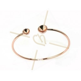 "bracelet rose goudkleur ""one size"" voor Swarovski strass SS39 en SS24"