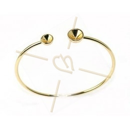 """bracelet goudkleur """"one size"""" voor Swarovski strass SS39 en SS24"""