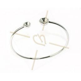 """bracelet rhodium  """"one size"""" voor Swarovski strass SS39 en SS24"""
