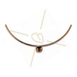 Demi collier Doré Rose tube 160mm pour Swarovski 4470 12*12mm
