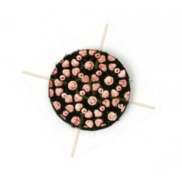 leder pastille 15mm Chievre Rose Gold