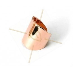 stijve ring regelbaar elipsoid 21mm breed Rose gold