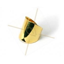 bague réglable rigide elipsoid 21mm Gold