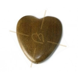 Houten hart 50mm