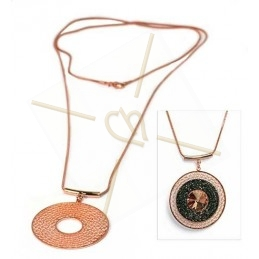 "necklace long 80cm with ""dreamcatcher"" Rose gold"