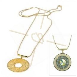 """Collier longue 80cm avec pendentif """"chasseur de rêves"""" gold"""