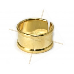 stijve ring regelbaar 10mm breed Gold
