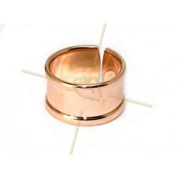 stijve ring regelbaar 10mm breed Rose Gold
