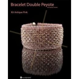 kit Double Peyote bracelet Antique Pink