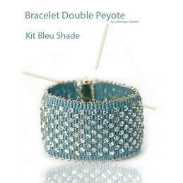 kit Double Peyote bracelet Bleu Shade