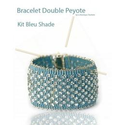 kit Double Peyote bracelet Bleu Shade