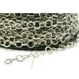 Chaine acier maille 7mm ronde