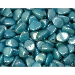 Pinch Beads Chalk white Baby Blue Luster
