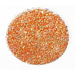 Pastille 24mm rond Swarovski Crystal Fabric-it COPPER