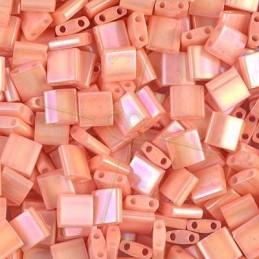Lentils parels 6.2.5mm 2-gaatjes White Lustred Hematite