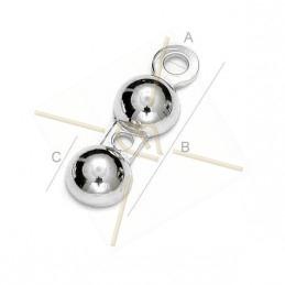 round endcap silver .925