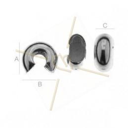 round endcap cache noeud silver .925