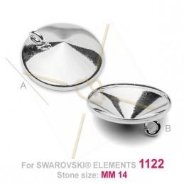 hangertje voor Swarovski 1122 14mm in zilver .925