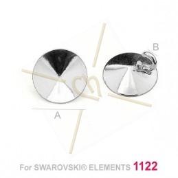 hangertje voor Swarovski 1122 8mm in zilver .925