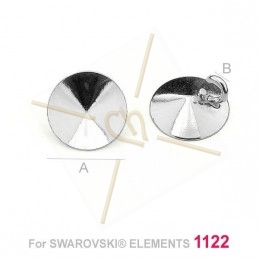pendant for Swarovski 1122 8mm in Silver .925