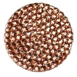 Crystal ROCKS 30mm Vintage Rose Copper