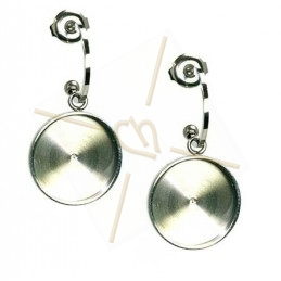 "Boucles d'orreille ""Goutte"" 40mm Comet Argent Light / Silver Shade"