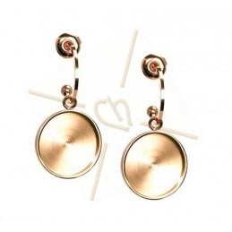 "Boucles d'orreille ""ronde"" 42mm Rose Gold"